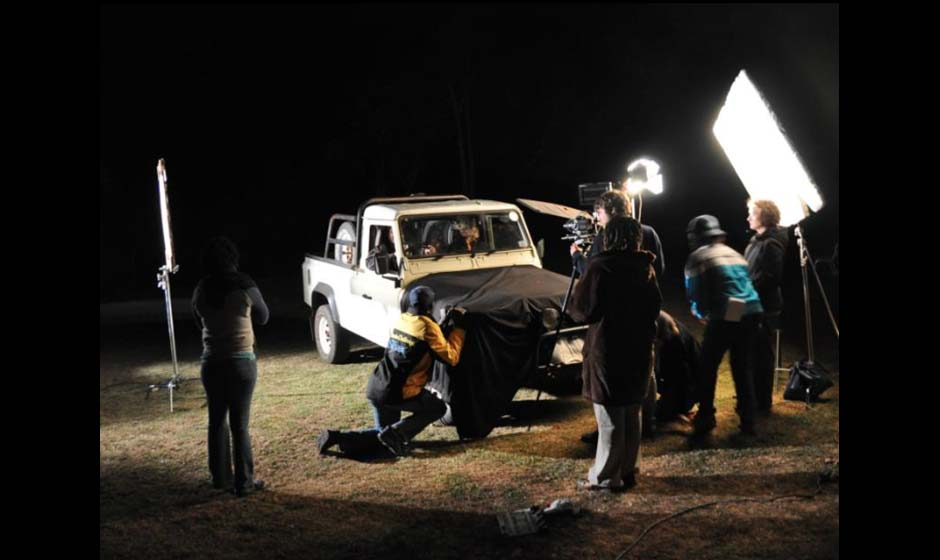 Freestate shooting night car scene